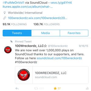 100wreckordz on Twitter