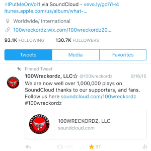 100wreckordz on Twitter