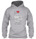"""I Love Free Music"" Hoodies"
